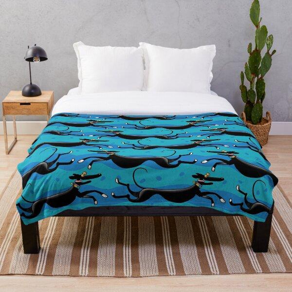 Blue Zoomies pattern Throw Blanket