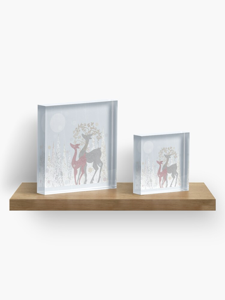 Alternate view of Couple of Deer Acrylic Block