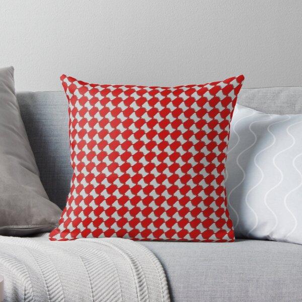 Ghutrah Red Throw Pillow