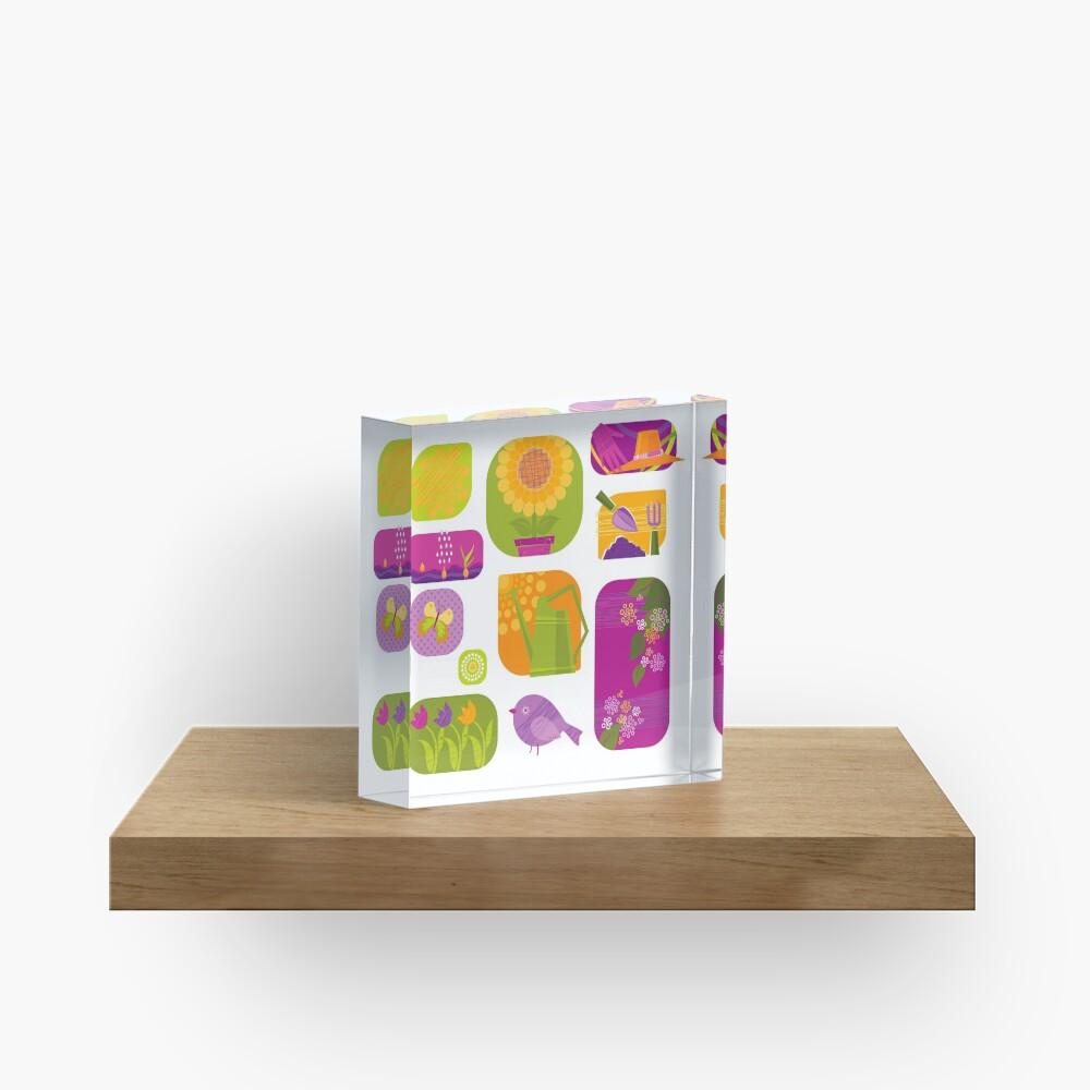 Spring Acrylic Block