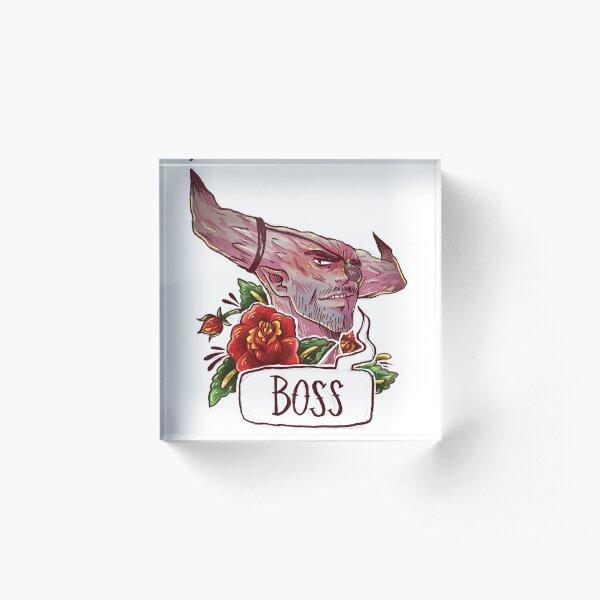BOSS BULL Acrylic Block