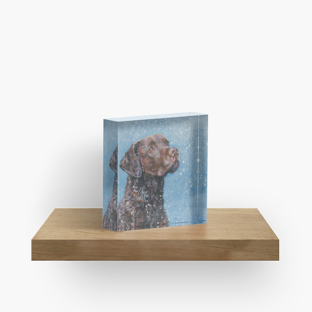 Chesapeake Bay Retriever Fine Art Painting Acrylic Block