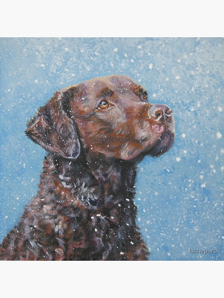 Chesapeake Bay Retriever Fine Art Painting by lashepard