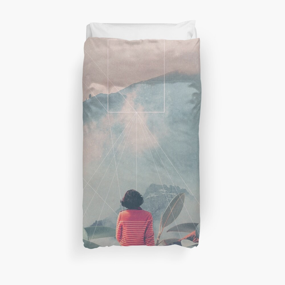 Lost in the 17th Dimension Duvet Cover