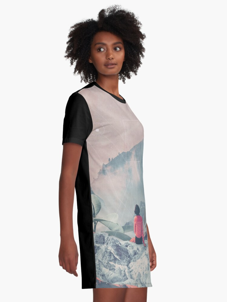 Alternate view of Lost in the 17th Dimension Graphic T-Shirt Dress