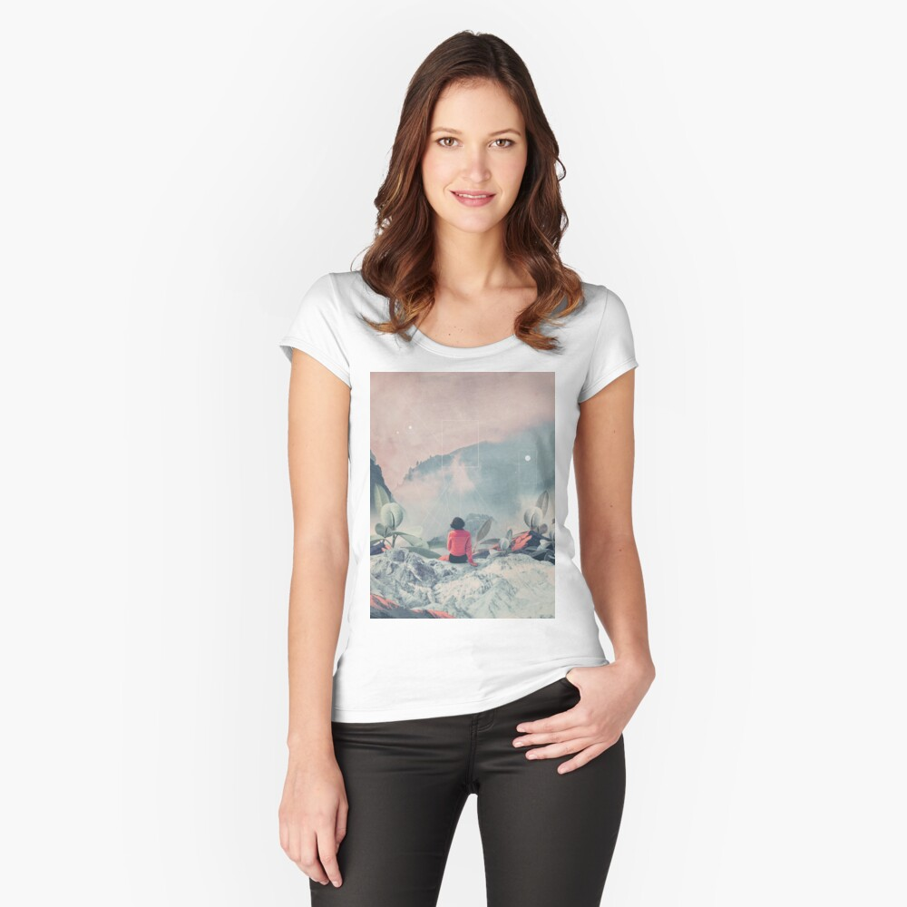 Lost in the 17th Dimension Fitted Scoop T-Shirt