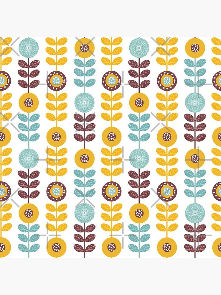 Patrón floral lindo de shabzdesigns
