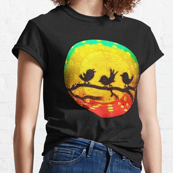 Three Little Birds on Branch Classic T-Shirt