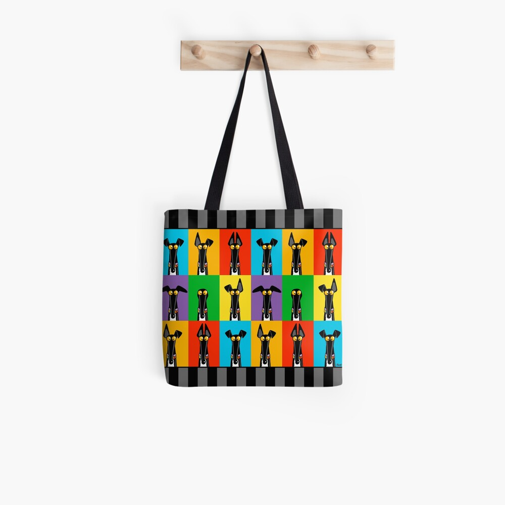 Greyhound Semaphore with border Tote Bag
