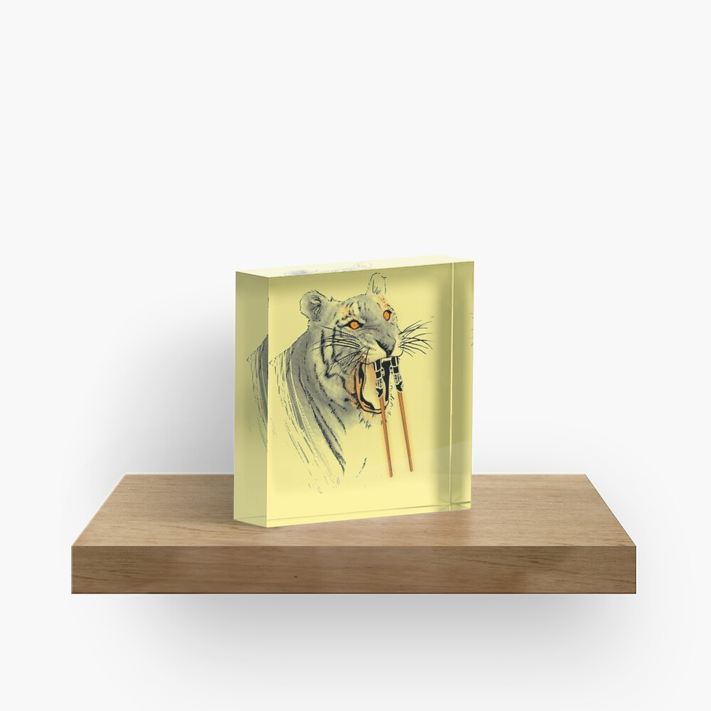 Saber-toothed Tiger Acrylic Block