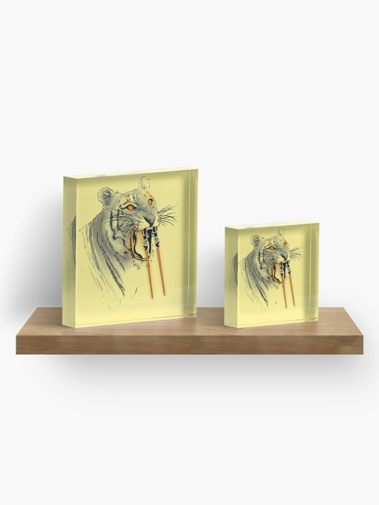 Alternate view of Saber-toothed Tiger Acrylic Block