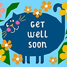 Cat Themed Get Well Soon Illustration by Adam Regester