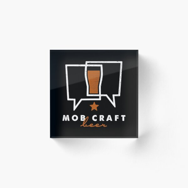 MobCraft Logo Acrylic Block