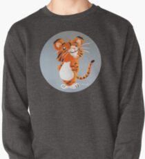 Cute Tiger Cub Pullover Sweatshirt