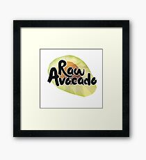 Raw Avocado Framed Print