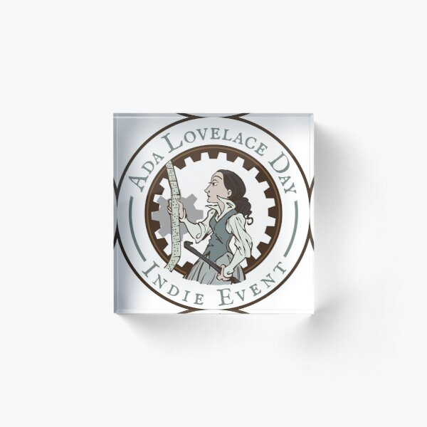 Ada Lovelace Day Indie Event Stickers! Acrylic Block