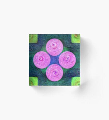 #DeepDream Color Squares Circles Visual Areas 5x5K v1448204645 Acrylic Block