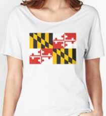 maryland state flag Women's Relaxed Fit T-Shirt