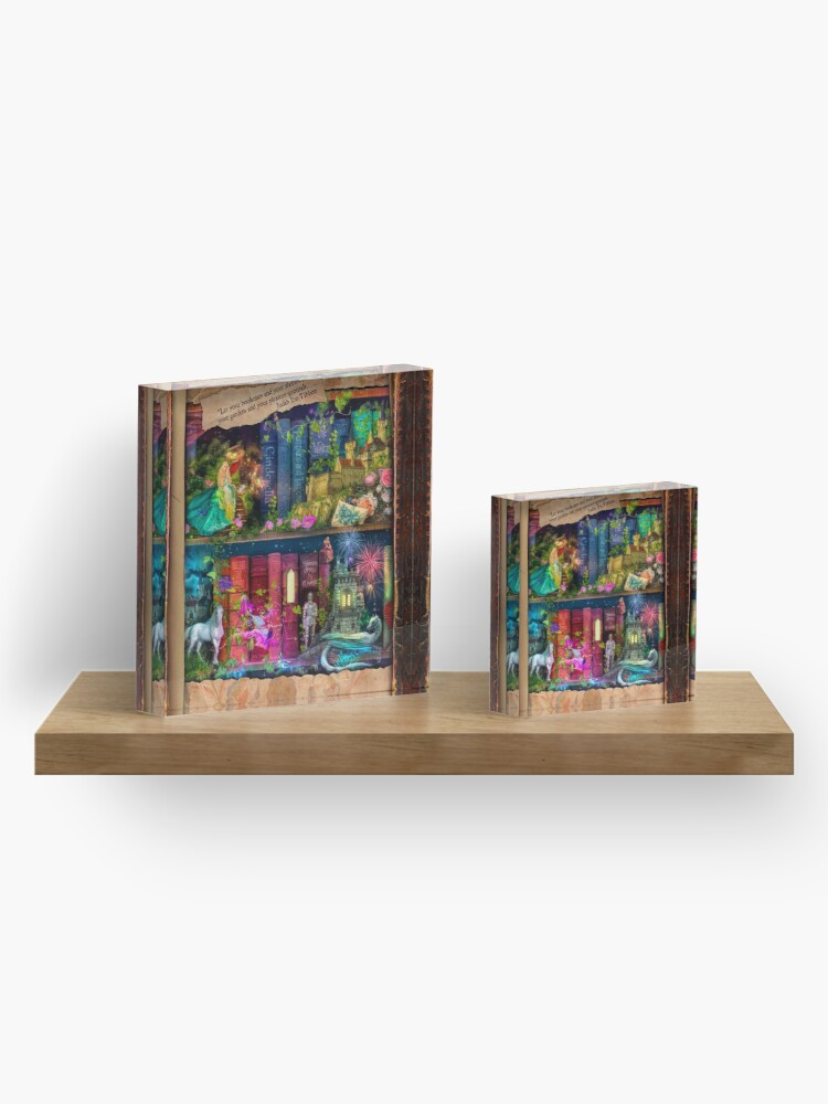 Alternate view of The Curious Library Calendar - December Acrylic Block