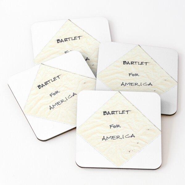 Bartlet for America napkin Coasters (Set of 4)