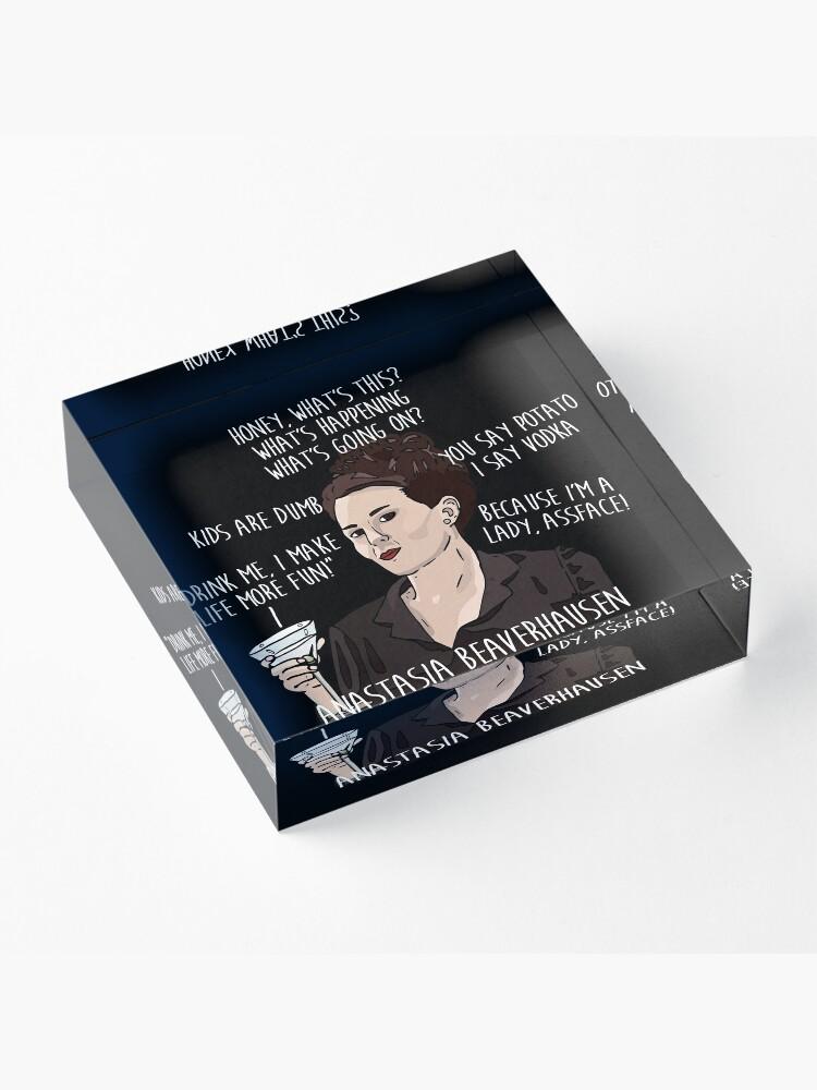 Alternate view of KAREN WALKER WILL & GRACE QUOTES Acrylic Block