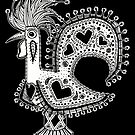 Portuguese Rooster Black and White by PortugalRooster