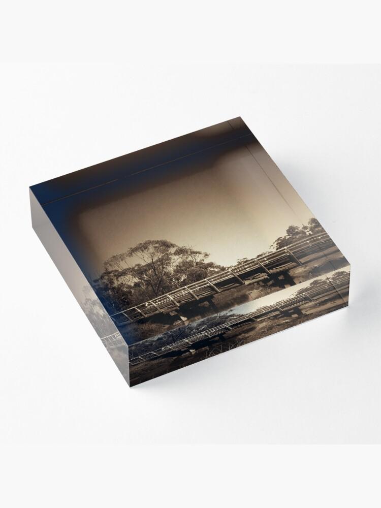Alternate view of Old wooden bridge Acrylic Block
