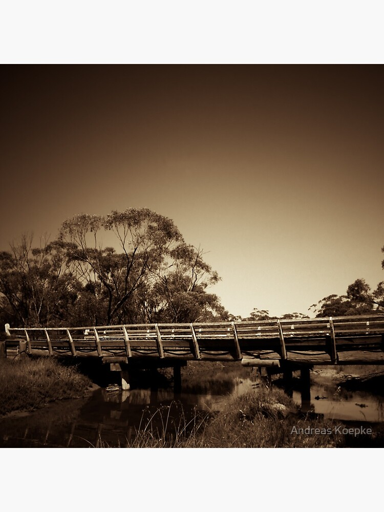 Old wooden bridge by mistered