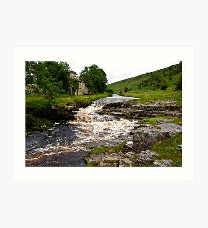 River Cottage  (River Wharfe) Art Print