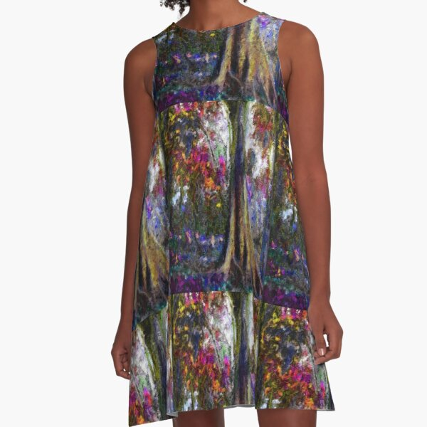 Shrubbery on the Mountain A-Line Dress