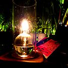 Oil Lamp at Ferringhi Garden, Penang, Malaysia. by Keith Richardson