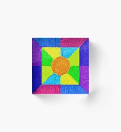 DeepDream Color Squares Visual Areas 5x5K v19 Acrylic Block