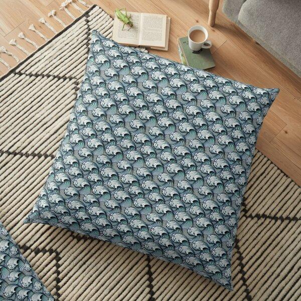 Japanese Waves Floor Pillow
