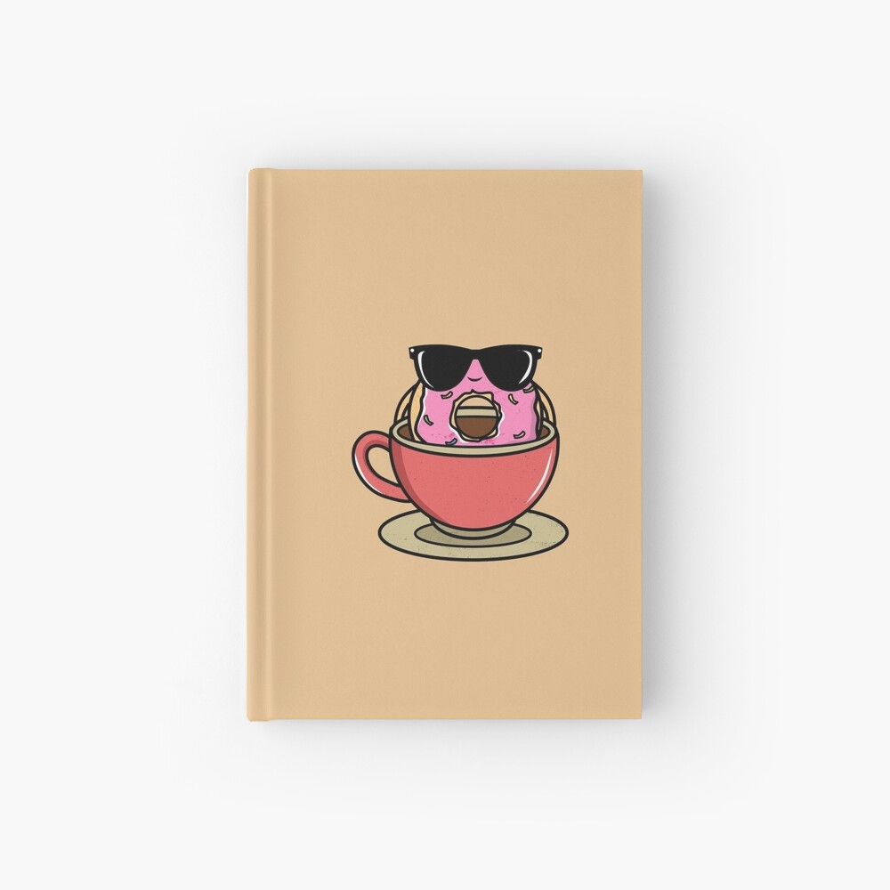 Donut and Coffee Chill Hardcover Journal
