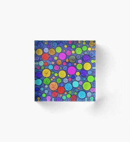 #DeepDream Color Circles Visual Areas 5x5K v1448629304 Acrylic Block