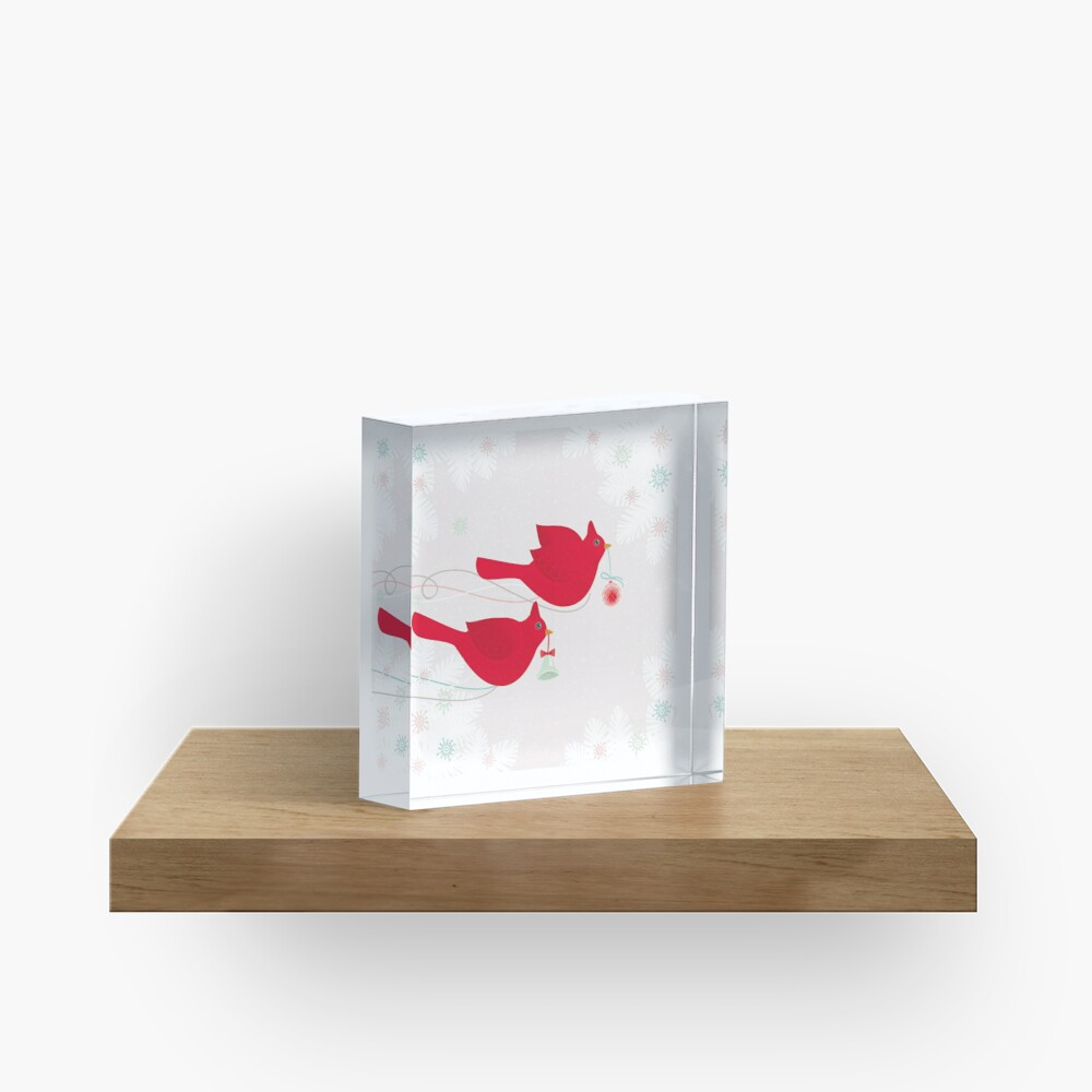 Two Cardinals Acrylic Block
