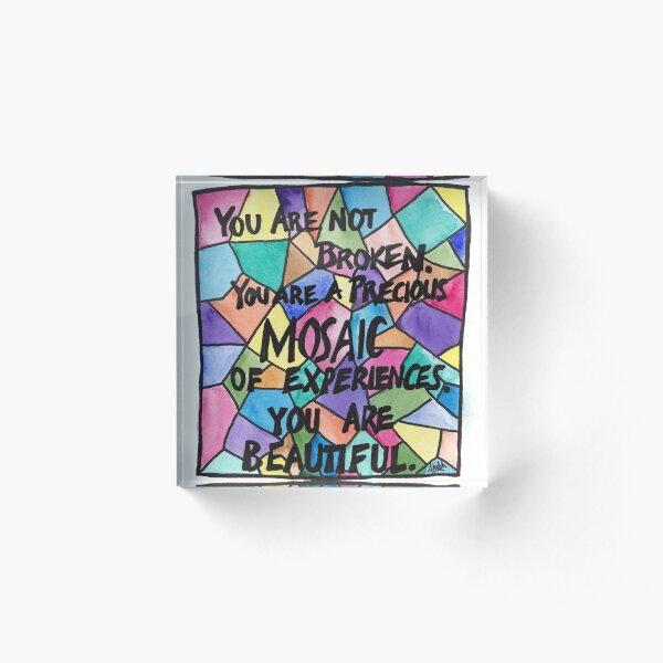 Precious Mosaic Acrylic Block
