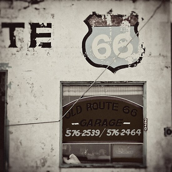 Old Route 66 Garage by Andie  Smith