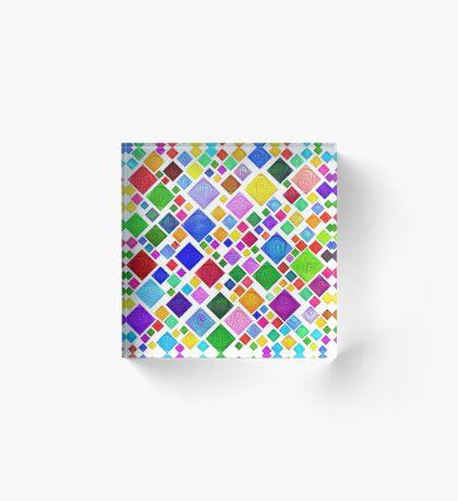 #DeepDream Color Squares Visual Areas 5x5K v1448787318 Transparent background Acrylic Block