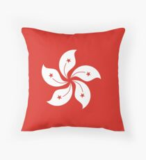 flag of Hong Kong Throw Pillow