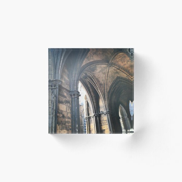 Arches, Lincoln Cathedral Acrylic Block