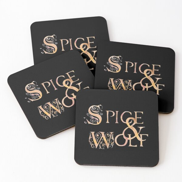 Spice and Wolf Coasters (Set of 4)