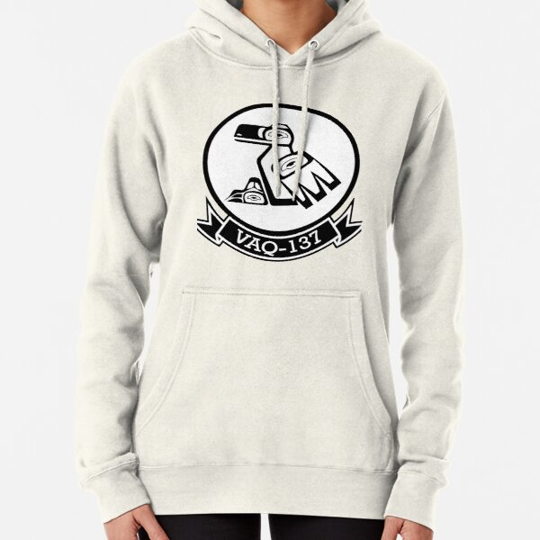 VAQ-137 Rooks White Patch Pullover Hoodie