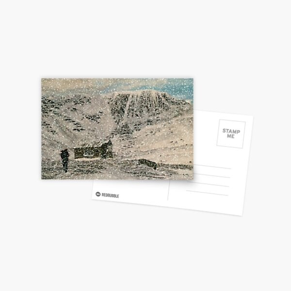 Snowy Scottish Highlands Greeting Card (Blank) Postcard