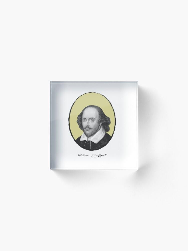 Alternate view of William Shakespeare Acrylic Block