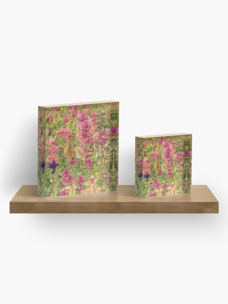 Alternate view of Floral Acrylic Block