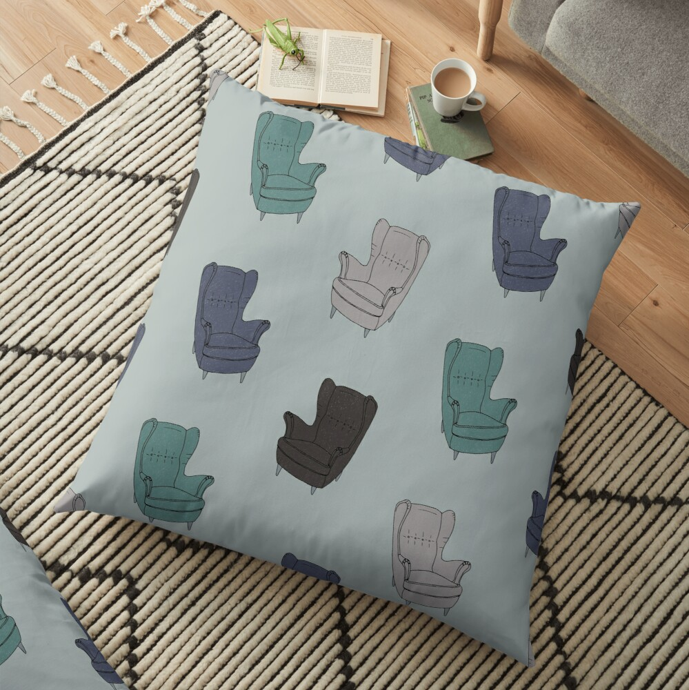 Seventies Armchair Pattern - Version 2 Floor Pillow