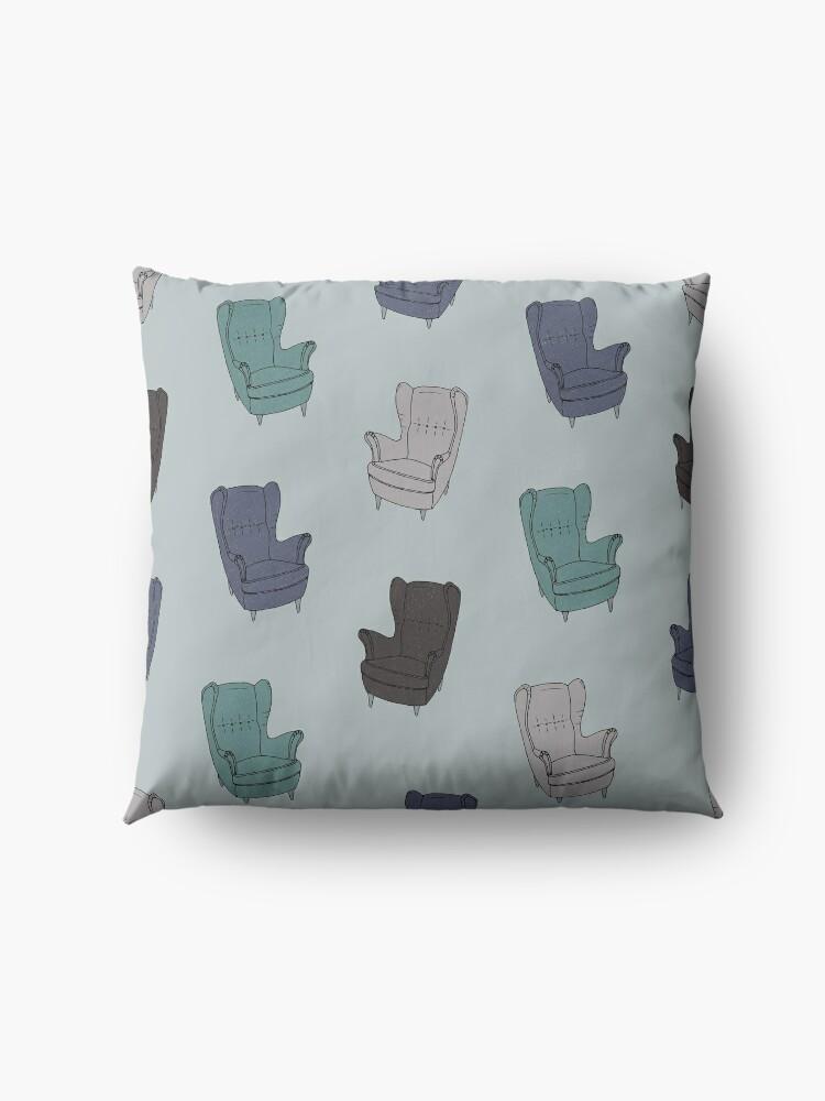 Alternate view of Seventies Armchair Pattern - Version 2 Floor Pillow