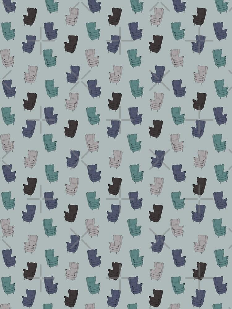 Seventies Armchair Pattern - Version 2 by PrintablesP