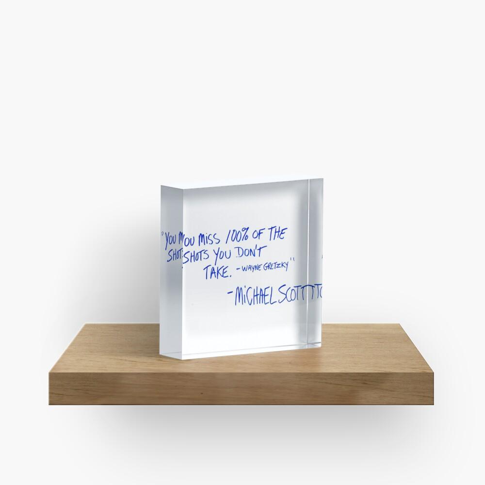 The Office Michael Scott quote Acrylic Block